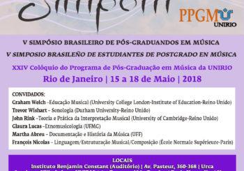 V Simposio Brasileño de estudiantes de postgrado en Música